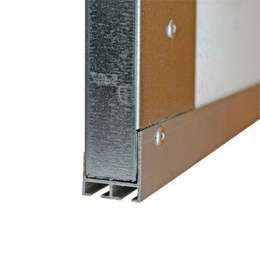 Aluminiowy profil korytko do bram garażowych