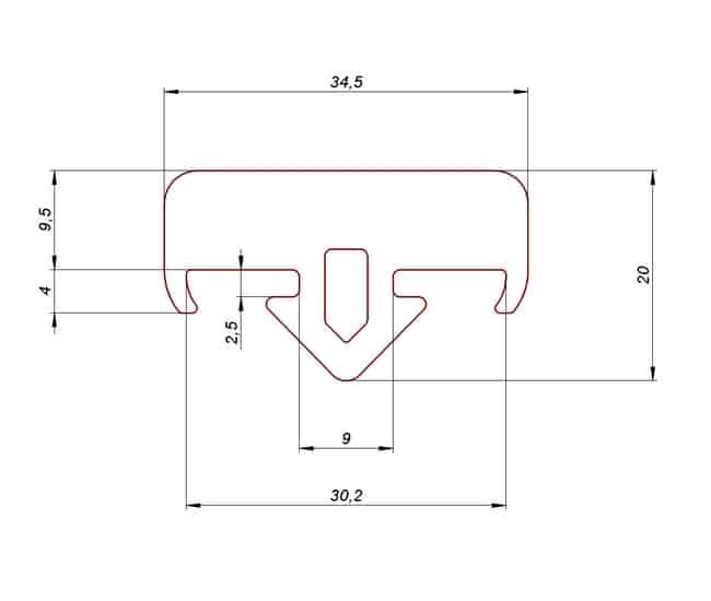 Profil gumowy do stojaków i palet