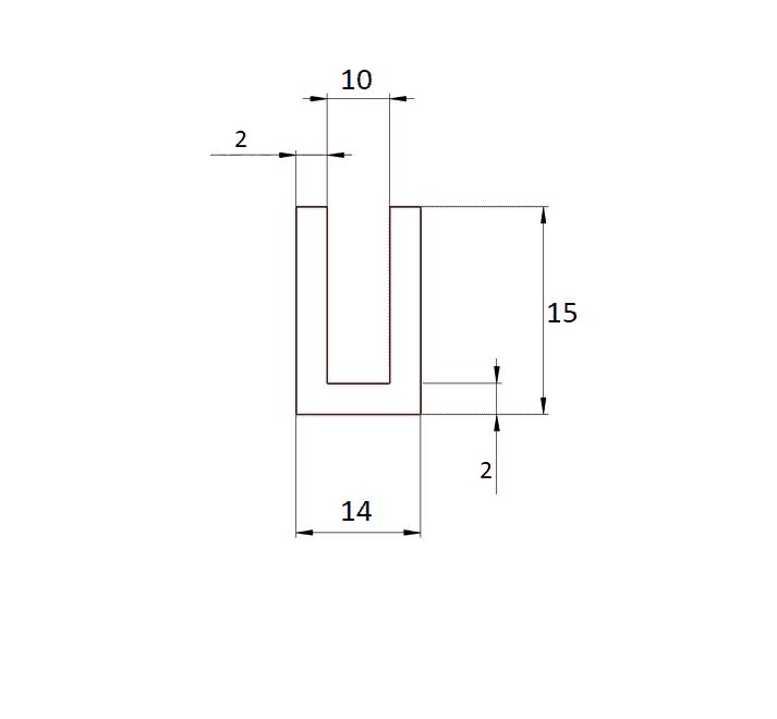 Uszczelka EPDM krawędź 10 mm, 023670