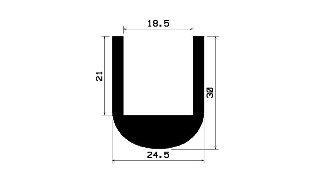 Krawędziowa uszczelka na 18 mm