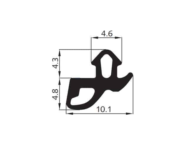 Uszczelka okienna EPDM do okien PCV S-1560, 04-810