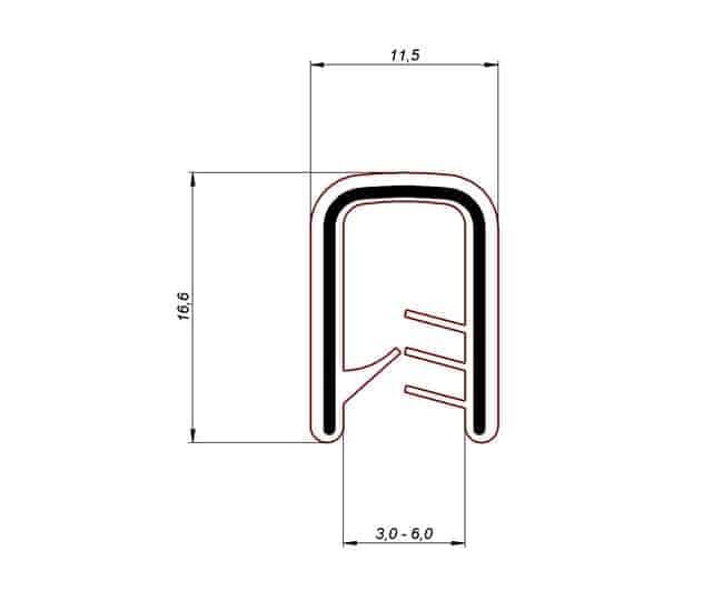 Osłona samozaciskowa 3-6 mm czarna