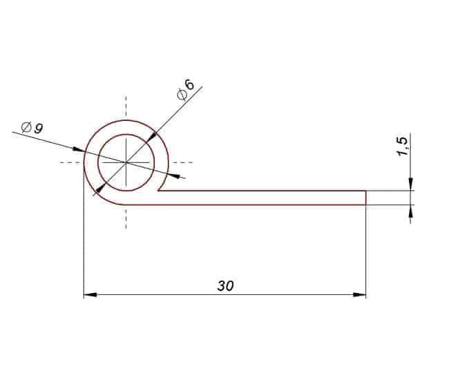 Profil gumowy typ P fi 9 mm